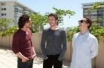 Kit Harington (Jon Snow), Richard Madden (Robb Stark) and Alfie Allen (Theon Greyjoy) hanging out.