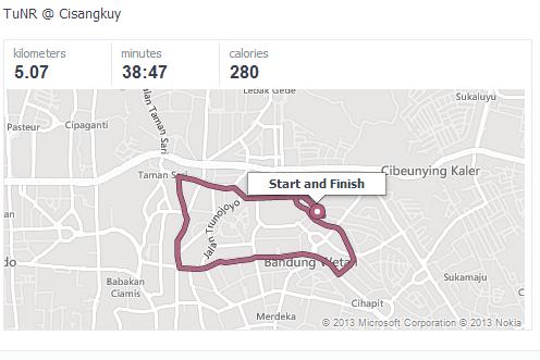 2nd participation : route via depan gedung sate, sulanjana, masuk riau, balik lagi ke cisangkuy