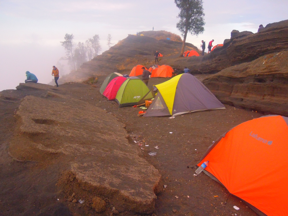 Our Camp Site at Pelawangan Sembalun