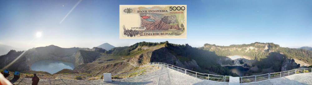 Danau Tiga Warna, Kelimutu - 5000 Rupiah