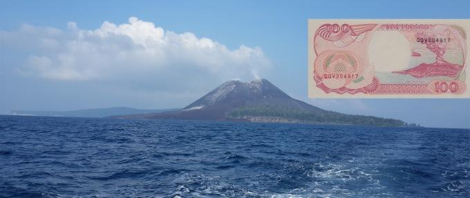 (Anak) Gunung Krakatau -  100 Rupiah